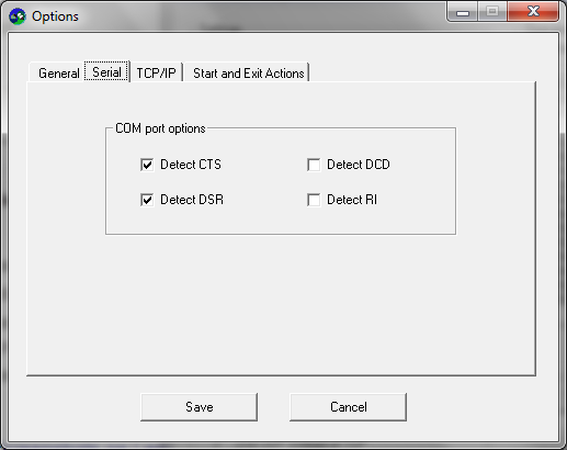 Serial TCP v20 screenshot - Options