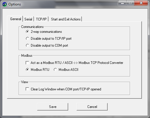 Serial-TCP Screenshot 2