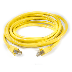 RJ45 FTP CAT -6 Cable with Spring Protector - Yellow