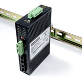 Industrial RS232 / RS485 / RS422 to Multi-Drop Fiber Optic Converter (SingleMode / SC)
