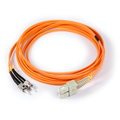 10ft (3m) LSZH Fiber Optic Patch Cord - MM / ST-SC