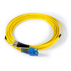 16ft (5m) LSZH Fibre Optic Patch Cord - SM / ST-SC - Yellow