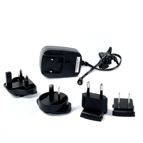 5VDC Regulated Power Adapter with International Plugs (used for USB-ISO-3; USB-RPT-2)
