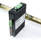 Industrial RS232 / RS485 / RS422 to Multi-Drop Fiber Optic Converter (SingleMode / ST)