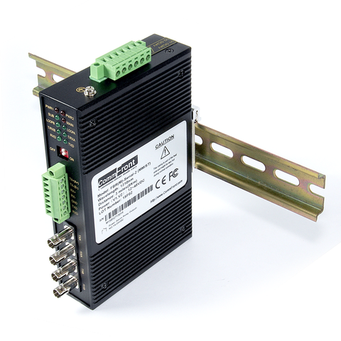Industrial RS232 / RS485 / RS422 to Multi-Drop Fiber Optic Converter (MultiMode / ST)