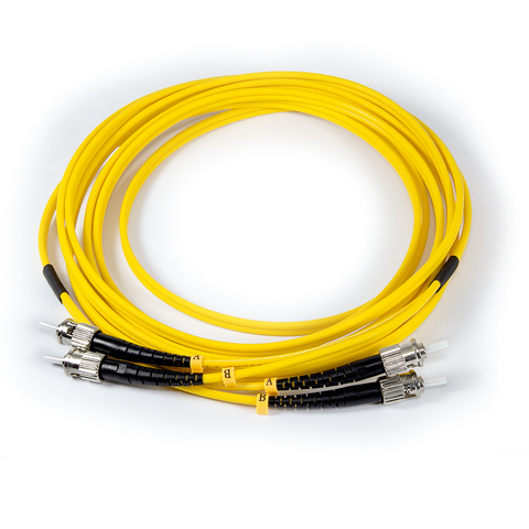 10ft (3m) LSZH Fiber Optic Patch Cord - SM / ST-ST