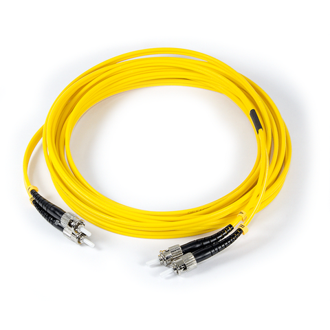 16ft (5m) LSZH Fiber Optic Patch Cord - SM / ST-ST
