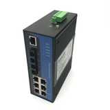 8-Port Managed Ethernet Switch / Redundant-Ring Fiber Optic Converter (Industrial / Single-Mode / SC)