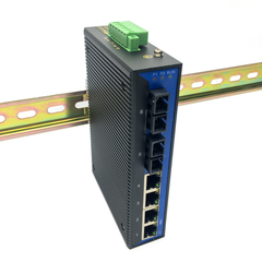 Unmanaged Ethernet Switch / Daisy-Chain and Star Fiber Optic Converter (Industrial / Single-Mode / SC)