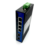 6-Port Unmanaged Gigabit Ethernet Switch / Daisy-Chain and Star Fiber Optic Converter (Industrial / SFP)