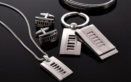 Steel necklaces, chains and bracelet bangles by Cudworth Men's Jewellery Australia