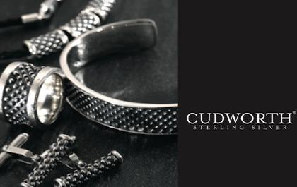 Men's Sterling Silver Jewellery collection with silver rings by Cudworth
