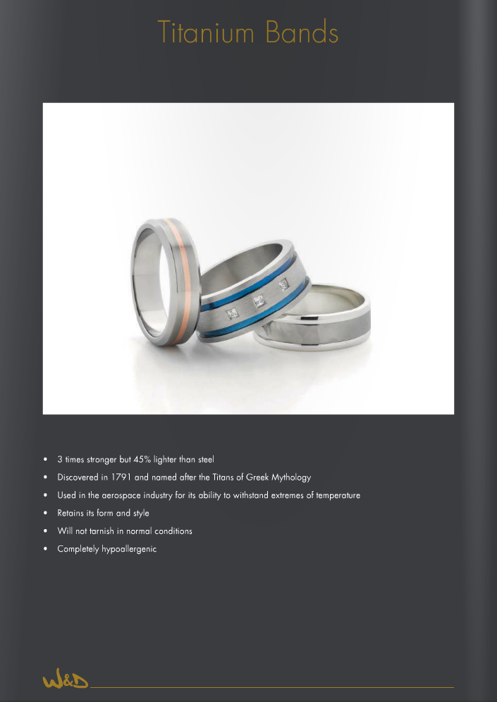 Worth and Douglas Mens Titanium Wedding Rings