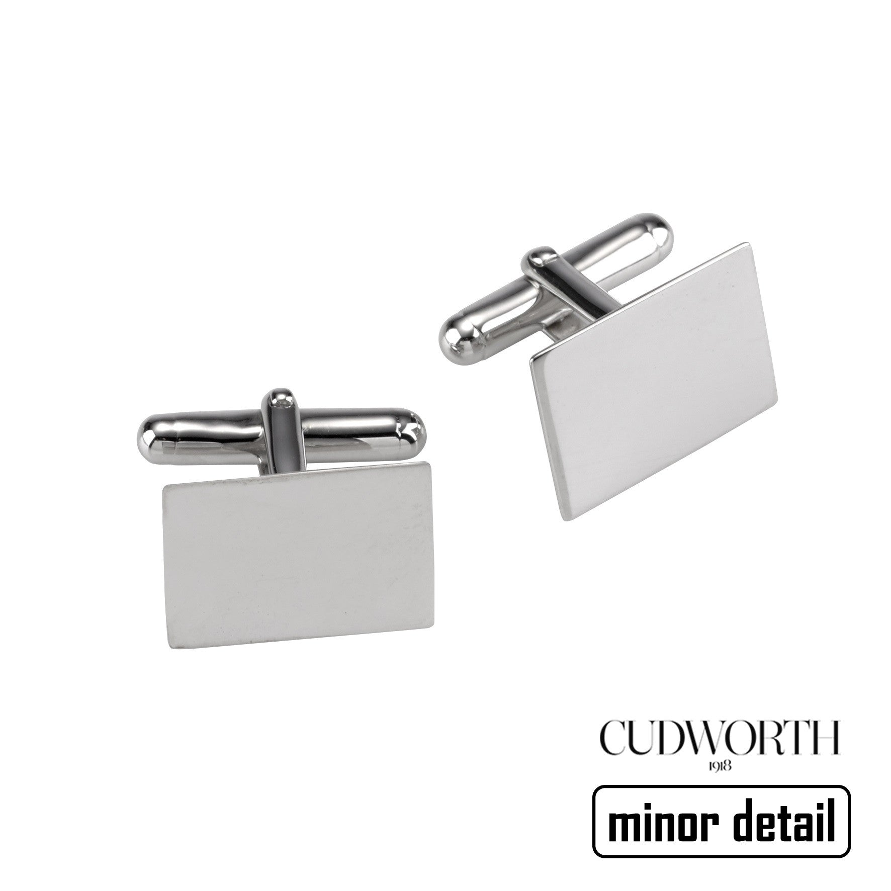 Rhodium Plated Sterling Silver Cufflinks