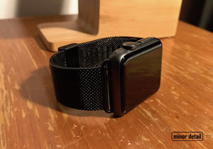 42 mm black Milanese apple watch strap