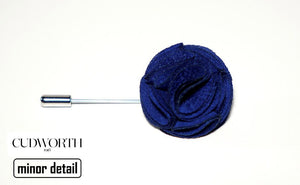Blue Round Looped Lapel Pin