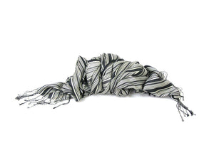 dlux Poet Striped Scarf in Silk