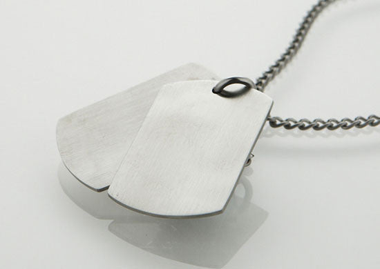 Dual Dog Tag Necklace by Cudworth