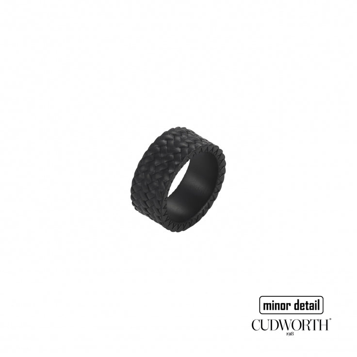 Cudworth Mens black ion tyre pattern ring