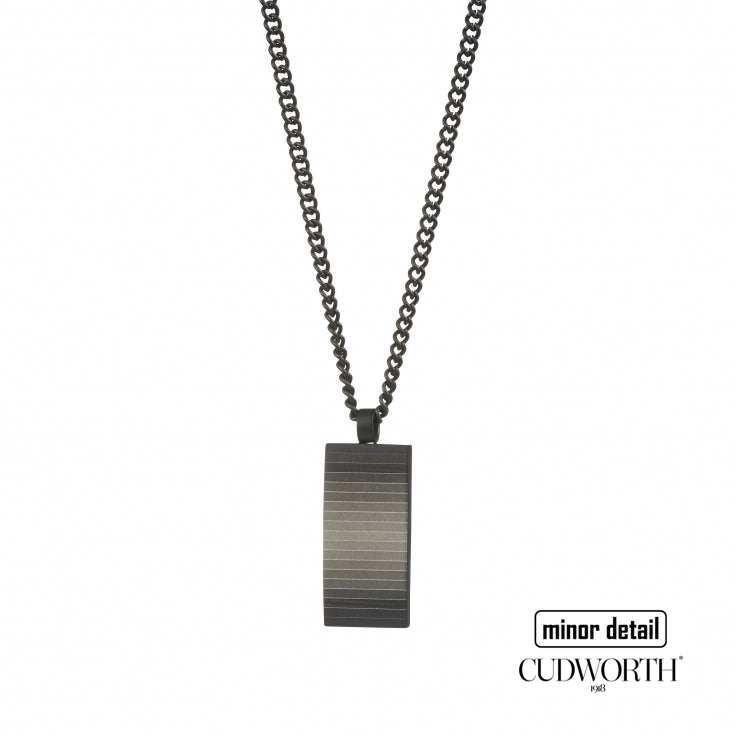 Men's Dog Tag necklace with Gradient Stripe Pendant by Cudworth Men's Jewellery Australia