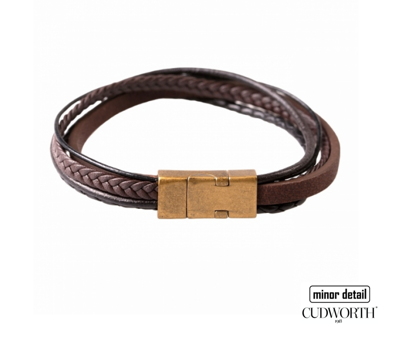Layered Multi Layer Stacked Bracelet by Cudworth Mens Jewellery
