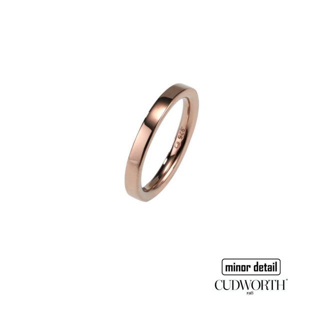 Cudworth Men's Sterling Silver Rose Gold Plated Ring