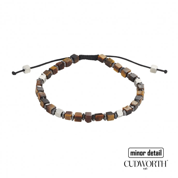 Men's Tiger Eye Stone Beaded Bracelet by Cudworth Sydney