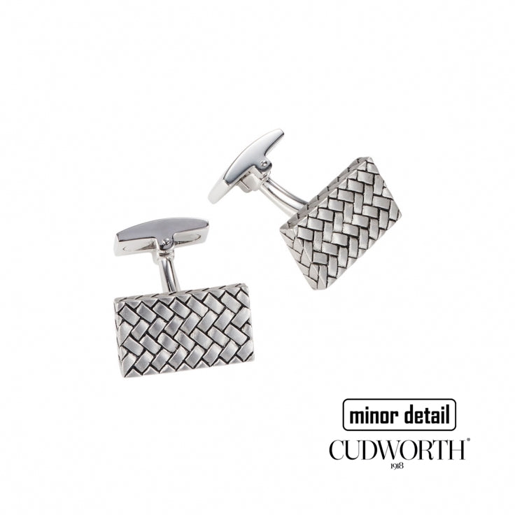 Sterling Silver Woven Pattern Cufflinks by Cudworth Men's Jewellery Australia