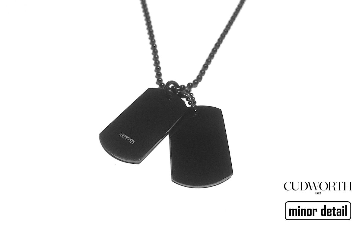 Dual Dog Tag Necklace in Black by Cudworth Mens Jewellery Australia