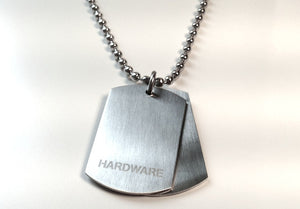 Dual Dog Tag Necklace by Cudworth Ball Chain
