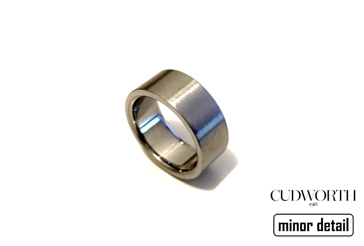 Mens Plain Steel Ring by Cudworth
