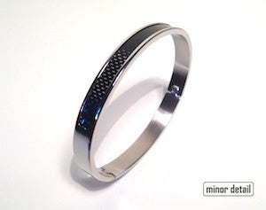 Steel and Carbon Fibre Bracelet