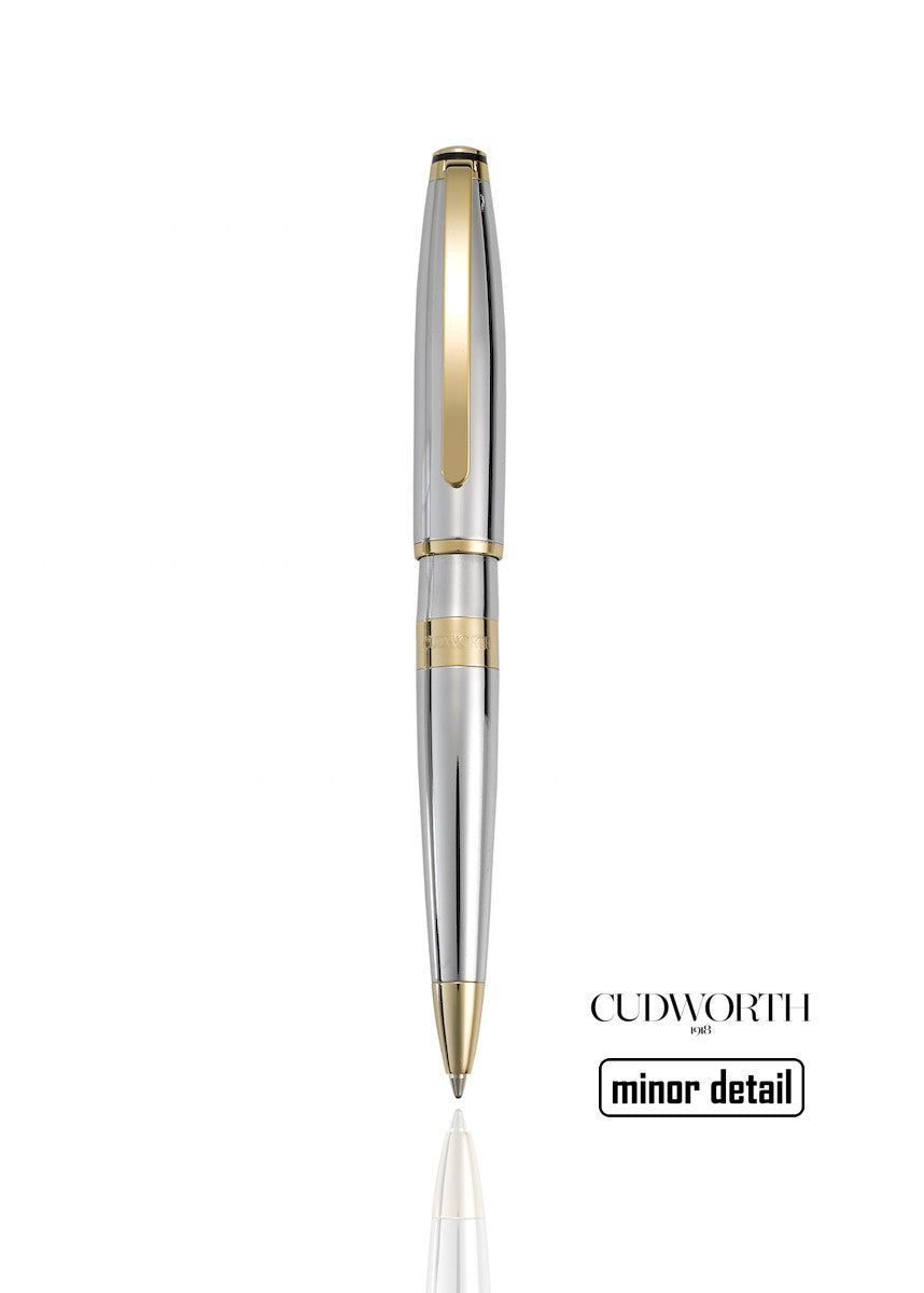 Mens Gold Pen with Silver Base