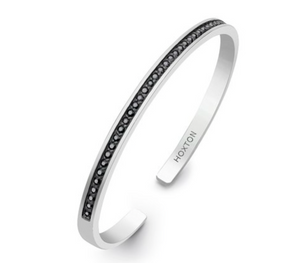 Hoxton Black Sapphire Sterling Silver Bangle