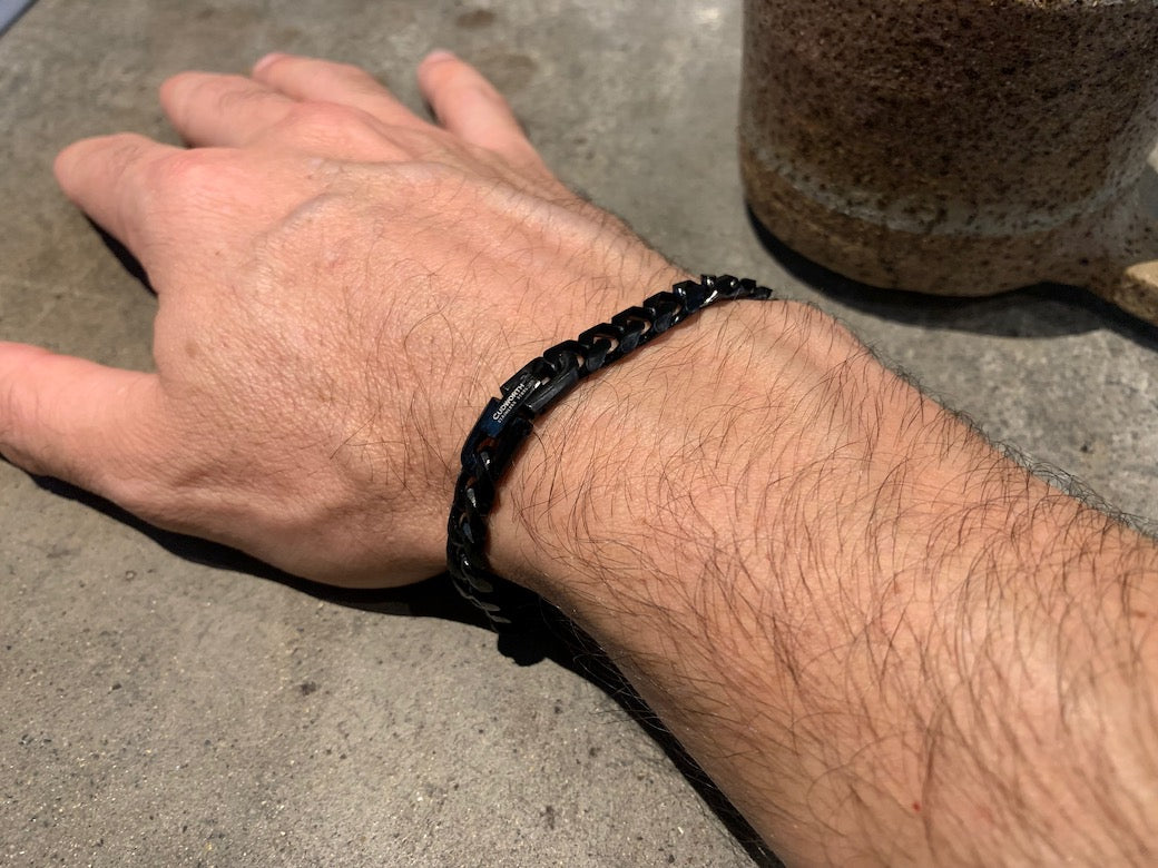IP Black Chain Bracelet