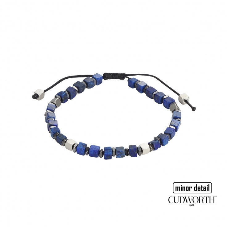 Mens Blue Solidate Stone Beaded Bracelet by Cudworth Sydney