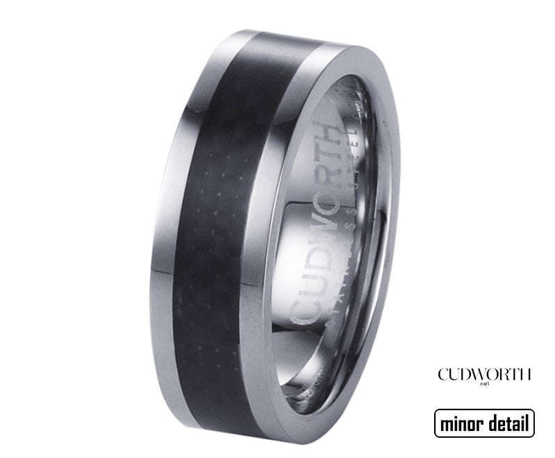 Carbon Fibre Mens Ring by Cudworth