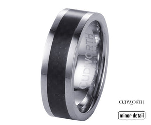 Carbon Fibre Ring by Cudworth Mens Jewellery
