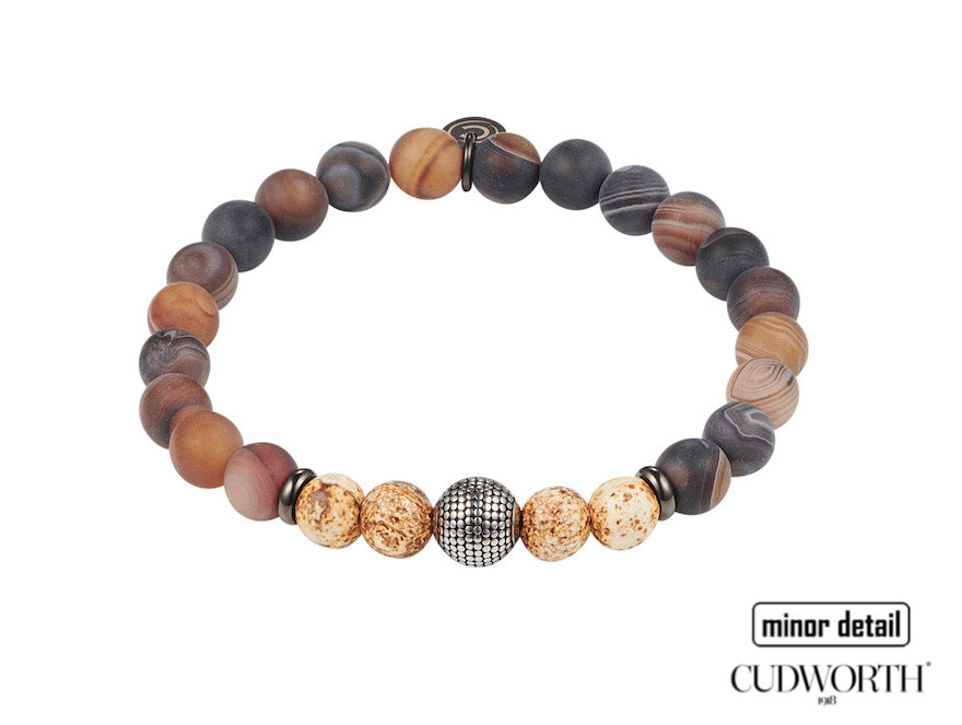Mens brown beaded bracelet by Cudworth Jewellery Australia