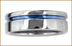 Mens Ring in Polished Titanium