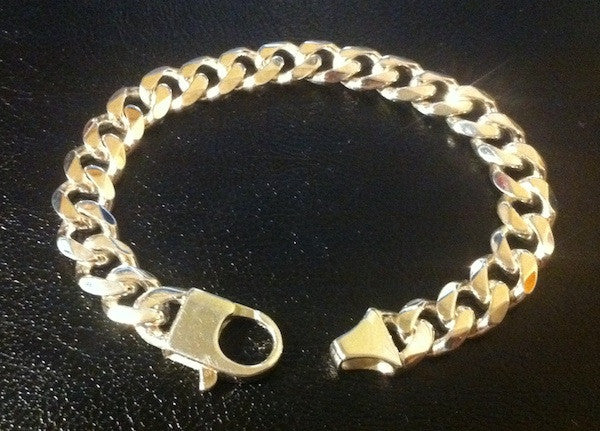 Mens Sterling Silver Chain Bracelet