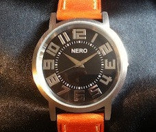 Nero Bold Number Tan Watch