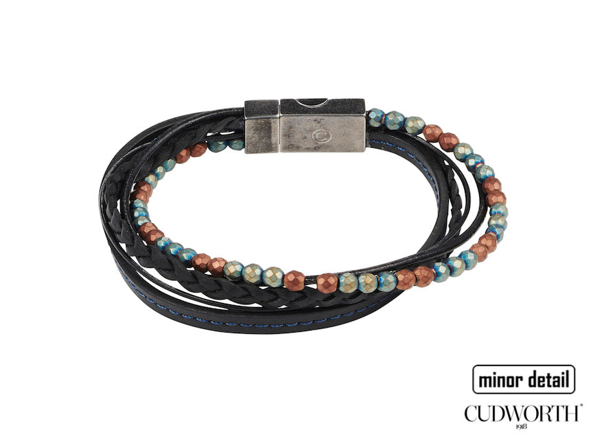 Cudworth Mens multi stacked layered bracelet style 630-92A