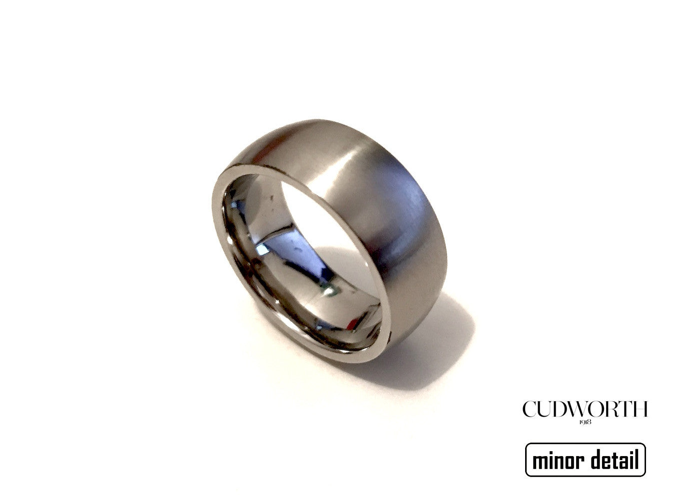 Convex Matte Steel Ring