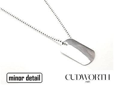 Sterling Silver Dog Tag Necklace by Cudworth Mens Jewellery