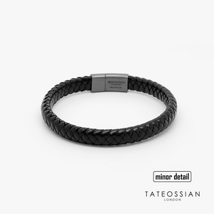 Tateossian Cobra Sontuoso Leather Bracelet