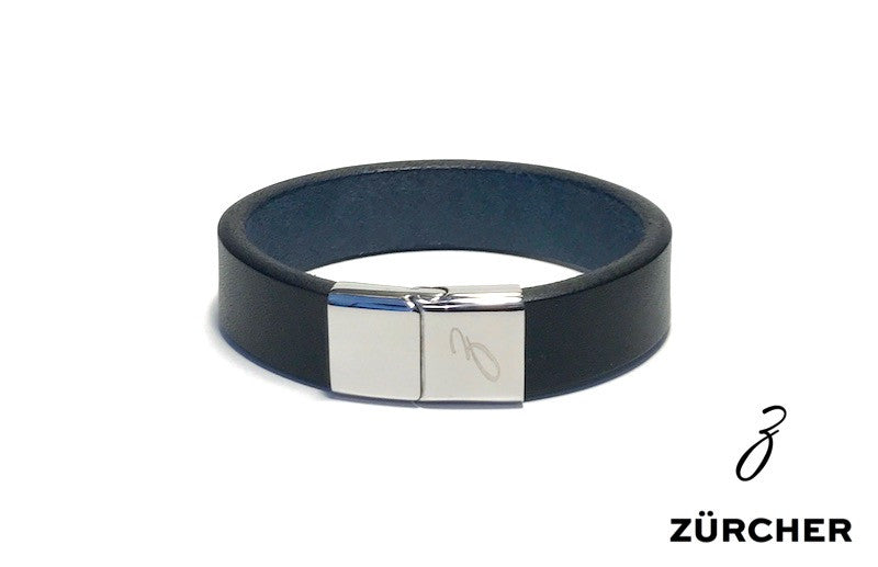 Black Leather Bracelet by ZÜRCHER
