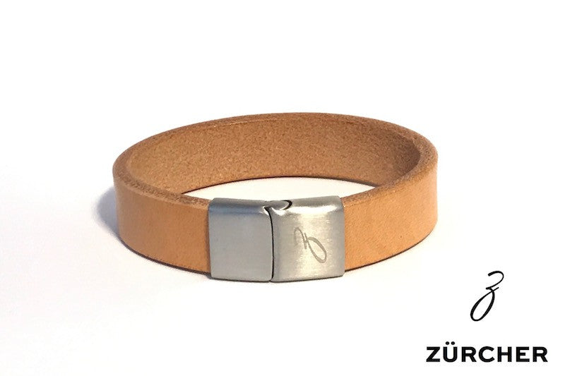 Natural Leather Bracelet by ZÜRCHER
