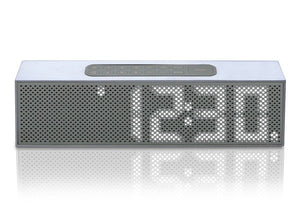 Titanium LED Clock Radio by Lexon