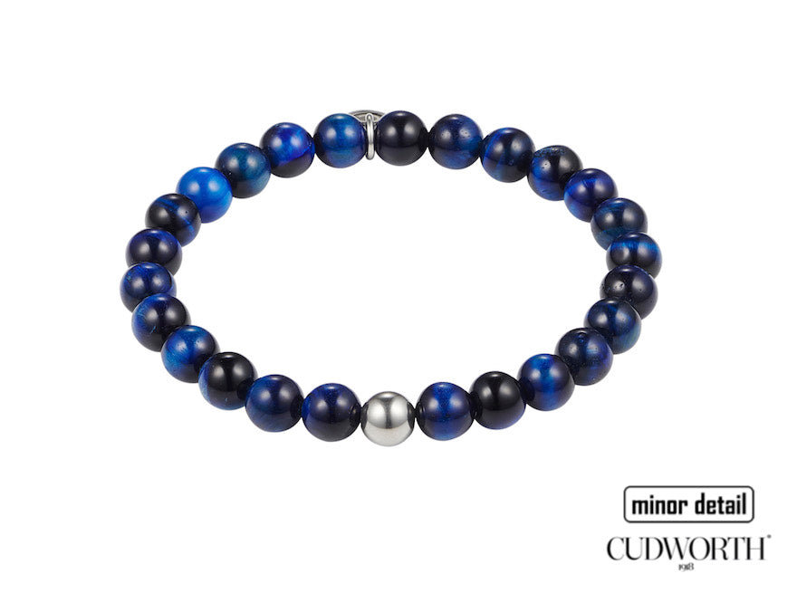 Mens Blue beaded bracelet by Cudworth Jewellery